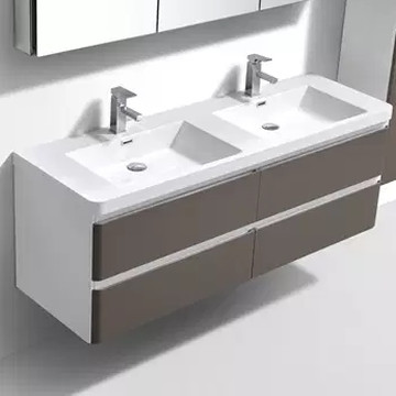Milan 1500 Vanity Cabinet Wall Hung Double Drawer
